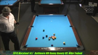 Danny Barouty v Mike Yednak MD 14.1 Straight Pool Championships