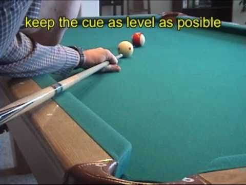 Pool and billiards draw shot technique, physics, and examples – part 1: technique (NV B.97)