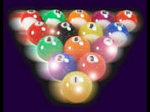 Amazing Pool Trick Shots (with Disco Pool Balls)