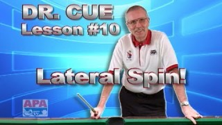 APA Dr. Cue Instruction – Dr. Cue Pool Lesson 10: Cue Ball Control…Lateral (side) Spin