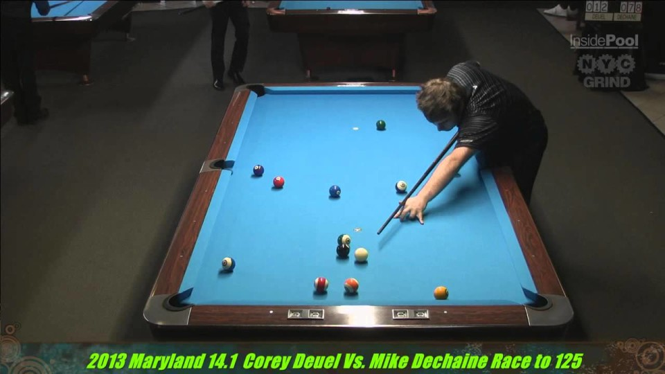 Corey Deuel Vs  Mike Dechaine Maryland 14.1 Straight Pool Championships