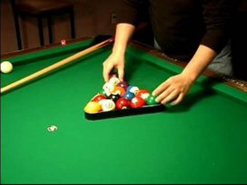 How to Play 8-Ball : Racking the Balls in Billiards