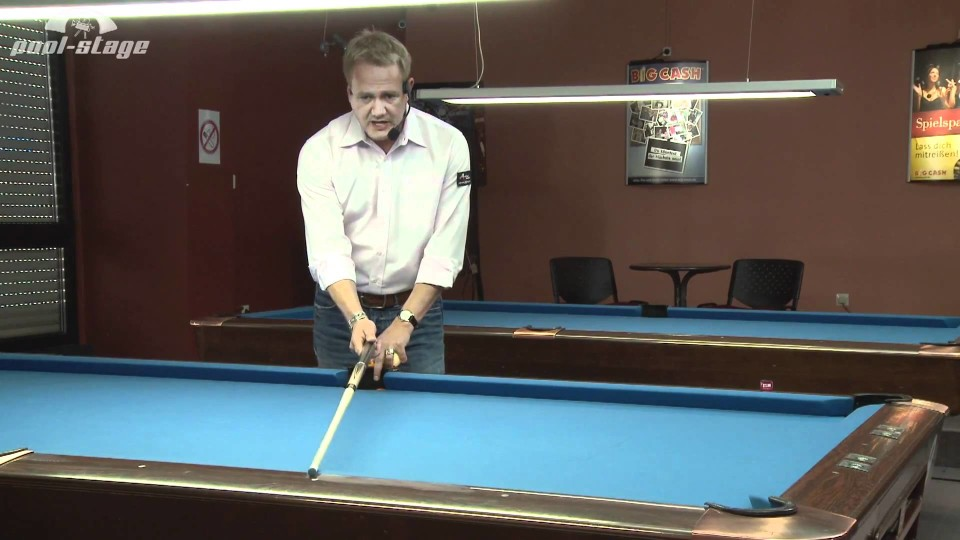 Pool Lessons – Bank Shot Reference Line, Ralph Eckert, Pool Billard Training Lessons