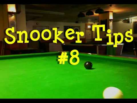 snooker tips #8  use bottom right to get above the black