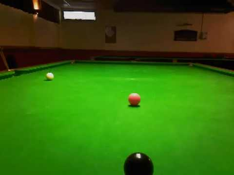 snooker tips # blue played with top & side