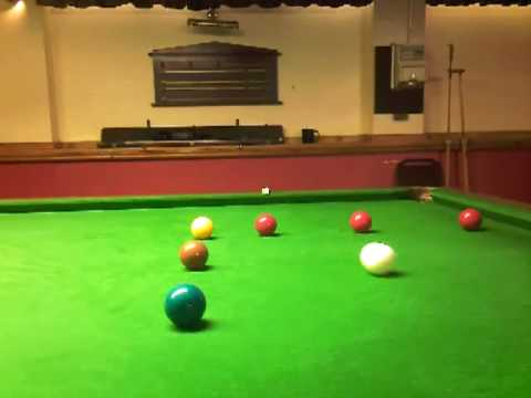 snooker tips # demonstration of playing with side.