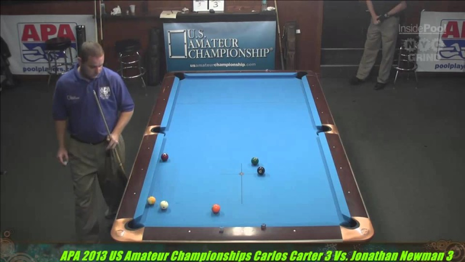 2013 APA US Amateur Championship Carlos Carter VS  Jonathan Newman