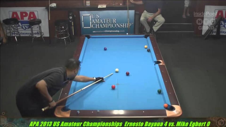 2013 APA US Amateur Championship Ernesto Bayayu VS  Mike Egbert