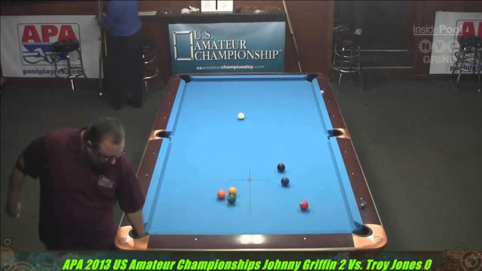 2013 APA US Amateur Championship Johnny Griffin VS  Troy Jones