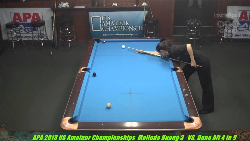 2013 APA US Amateur Championship Ladies Final Melinda Huang VS  Dana Aft