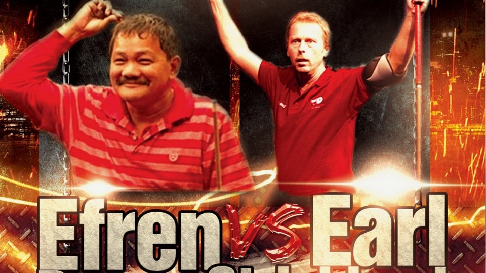 Efren Reyes vs Earl Strickland Challenge Match on 10 Foot Table