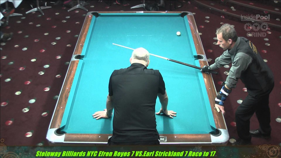 Efren Reyes VS  Earl Strickland The Battle of Legends at Steinway Billiards Part 1 8 Ball A