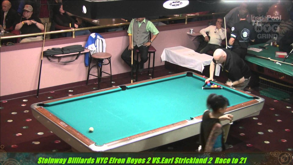 Efren Reyes VS  Earl Strickland The Battle of Legends at Steinway Billiards Part 2 9 Ball A