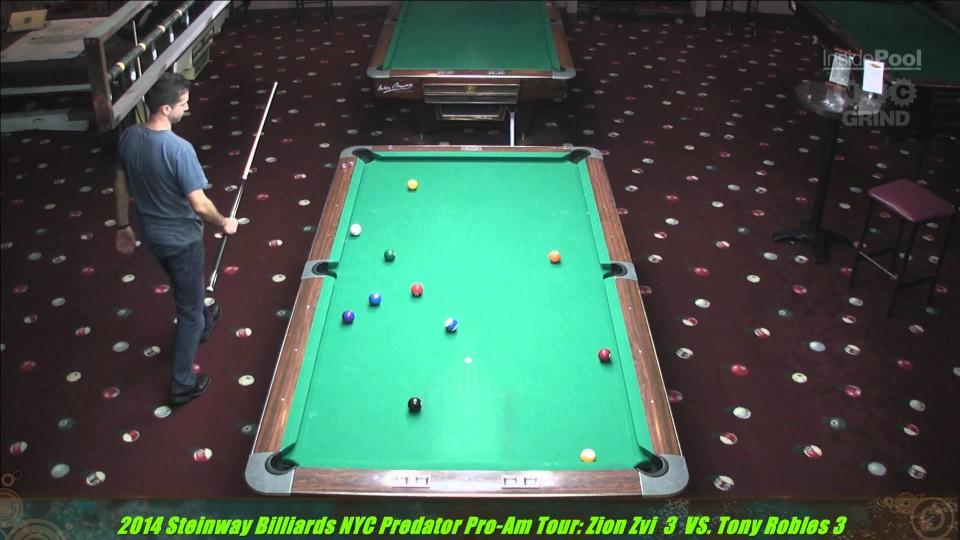 Zion Zvi VS  Mike Dechaine Predator Pro -Am Tour at Steinway Billiards 2014