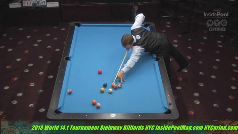 2013 World 14.1 Mika Immonen VS Darren Appleton at Steinway Billiards