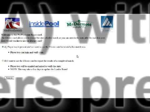 ProPool.com Events – How to Use the Virtual TD Online Software
