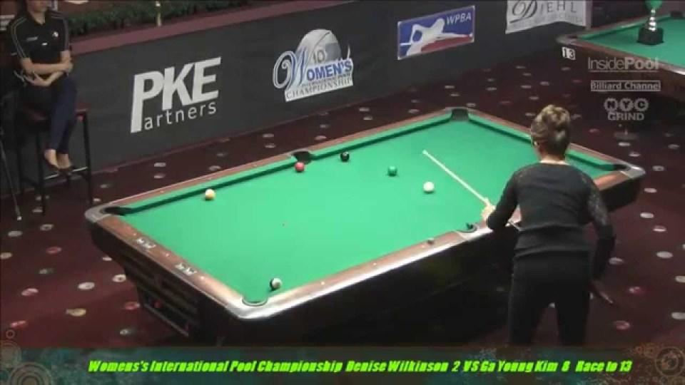 2014 Women's International Pool Tournament Ga Young Kim VS Denise Wilkenson