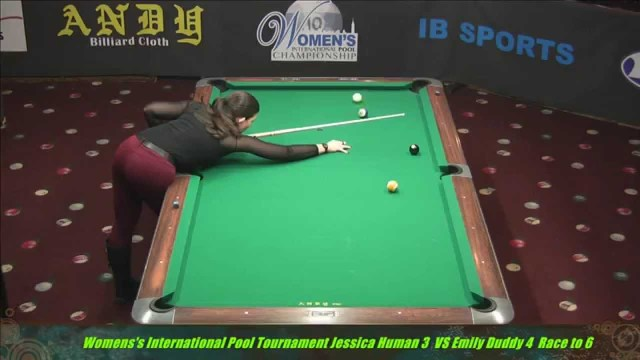 2014 Women's International 10 Ball Emily Duddy VS Jessica Human